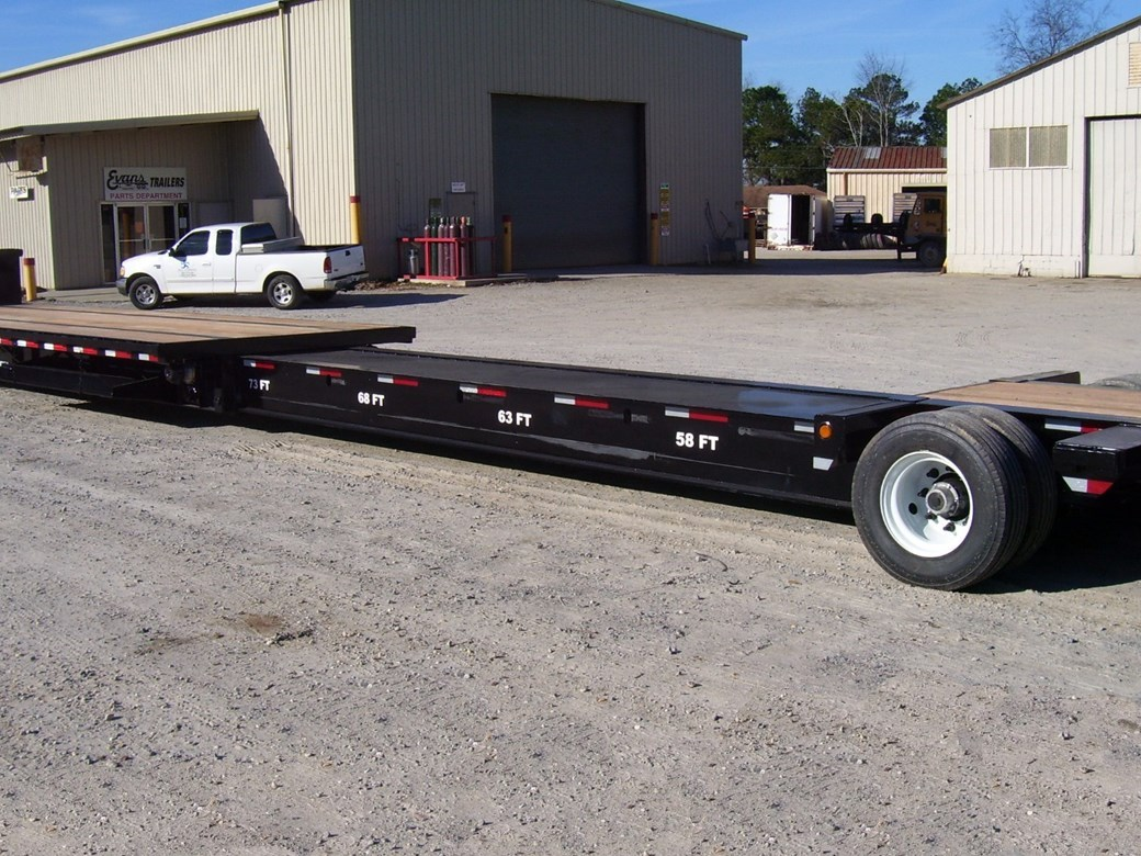 Steel rollers make extending the trailer easy